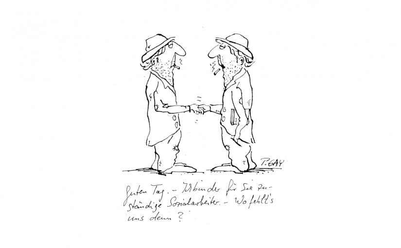 Sozialarbeiter Karikatur von Peter Gaymann